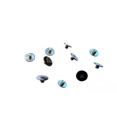 100x Silver Screws M2.5x2.5mm M2.5x2.5L PM2.5X2.5 Broadhead 7mm Philips Drive