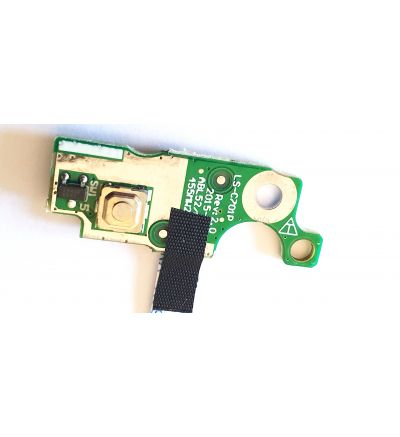 Replacement Power Button Board for HP 15-AF  Series p/n LS-C701P NBX00020100